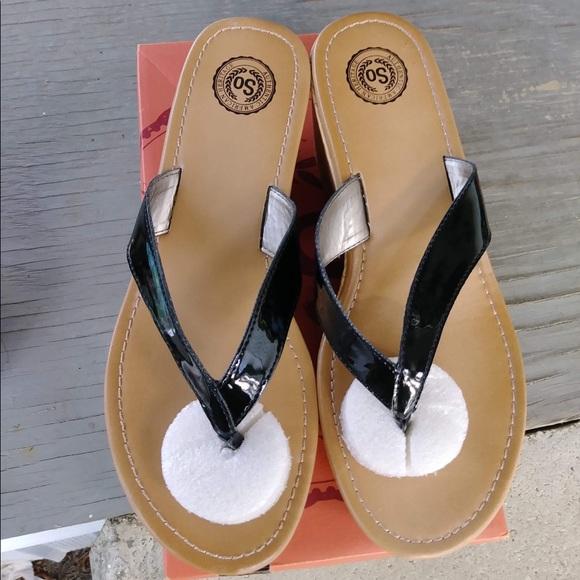 Nwb Kohls Black Wedge Sandals